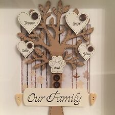 Handmade Personalised Our Family Tree Photo Box Frame