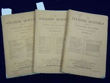 1875 THE ATLANTIC MONTHLY MAGAZINE LOT OF 5 ISSUES - LOWELL - HOWELLS - WR 305