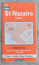 Plan de ville Blay Foldex Saint-Nazaire, 1-2 500e, bon état, un surlignage