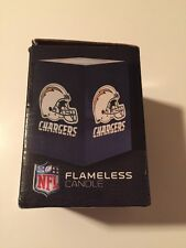 NEW San Diego Chargers Flameless Candle With Box Northwest NFL Football Blue