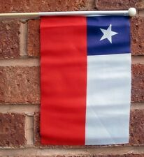 "CHILE HAND WAVING FLAG medium 9"" X 6"" wooden pole flags CHILEAN SANTIAGO"