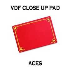 VDF RED Printed with Aces Magicians Matt Pad Mat card close up Magic trick
