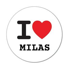 I Love Milas-Adesivo Sticker Decal - 6cm