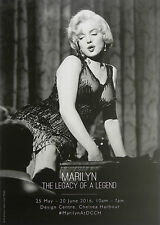 MARILYN MONROE THE LEGACY OF A LEGEND EXHIBITION DESIGN CENTRE LONDON 2016 FLYER