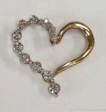 ESTATE JEWELRY LADIES 0.30 CTW DIAMOND HEART PENDANT 10K YELLOW GOLD
