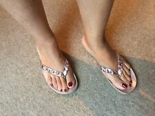 Kenneth cole reaction métallisé thong sandals 7.5 us