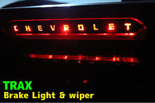 3D Black Carbon Rear 3rd Brake Lamp Decals Stickers for Chevrolet 2013+ Trax