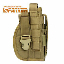 Right Hand Tactical Molle Pistol Gun Holster Pouch Universal Hunting CoyoteBrown