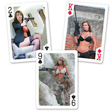 NEW Tactical Girls Poker Playing Cards Exotic Weapons Sexy Women