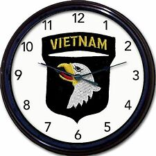 Screaming Eagles Vietnam 101st Airbourne Division Army infantry Wall Clock New