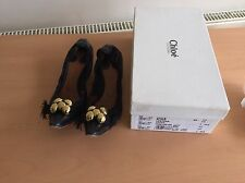 Chloe Black Low Heels, Size 37, Uk 4, Very Cute!