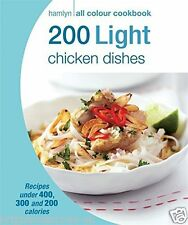 200 Light Chicken Dishes Healthy Diet Cook Book Eating Weight Loss Nutrition