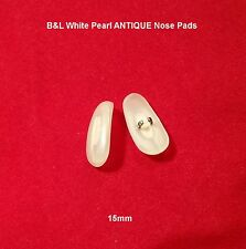 """B&L Antique White Pearl """"Crimp-On"""" Type Eyeglass Replacement 15mm NOSE PADS!"""