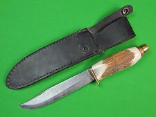 Vintage Norwegian Norway Custom Hand Made MORSETH Brusletto Fighting Knife