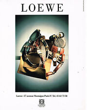 PUBLICITE ADVERTISING 074  1989  LOEWE  la boutique sacs foulards montres lunett