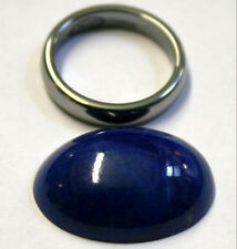 NATURAL LAPIS LAZULI LOOSE GEMSTONE 25X18MM GEM OVAL CABOCHON 24.6CT LA24