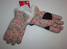 New Hanna Andersson Ski Gloves Winter Glove Size 2-5 Yr Kid Girl NWT Pink Floral