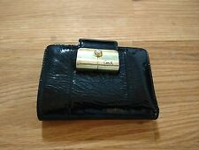 Coach Black Patent Leather Bifold Wallet