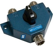 """MFJ-1702C 2 POSITION COAX SWITCH (NEW) ( WITH LIGHTING """"SURGE"""" PROTECTION !!)"""