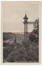 (109739) AK Bad Schandau, Sächsische Schweiz, Fahrstuhl 1953