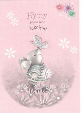 RARE little mouse with butterfly Finnish modern postcard