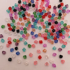 NEW 500Pcs mix  Faceted Bicone Acrylic Spacer Beads 4mm