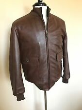 NWT Valstarino By Valstar Leather Blouson Jacket Brown 46 36 slim Italy