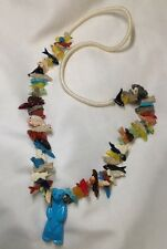 Vintage ZUNI Multi- Animal Fetish Necklace w/Bear Pendant - 26""
