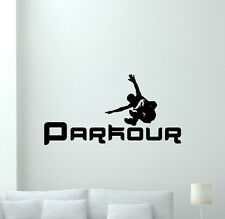 Parkour Poster Wall Decal Extreme Sport Vinyl Sticker Gym Decor Art Mural 56hor