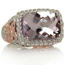 VICTORIA WIECK STERLING 2 TONE PINK AMETHYST WHITE TOPAZ RING SIZE 6 HSN SOLDOUT