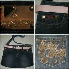 Baby Phat Denim Jeans Purse Factory Faded Cross Body Upcycled Shoulder Bag