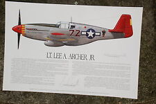 Tuskegee Airmen, Lee Archer, Aviation Art Prints, Ernie Boyette