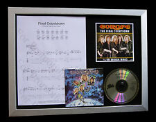 EUROPE Final Countdown LTD TOP QUALITY CD FRAMED DISPLAY+EXPRESS GLOBAL SHIPPING