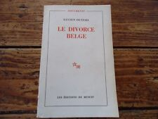 RELIGION - LE DIVORCE BELGE - LUCIEN OUTERS - CONFLIT WALLONS FLAMMANDS - 1968