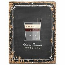 PP0745 Cocktail White Russian Plate Sign Home Bar Kitchen Store Decor Gift