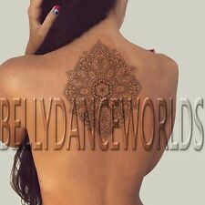 LARGE STUNNING MANDALA TEMPORARY TATTOO MIDDLE BACK NECK STERNUM BODY STICKER