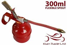 300ml OIL CAN - FLEXIBLE SPOUT. LUBRICANT THUMB PUMP STEEL BODY RUBBER HOSE