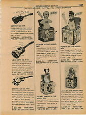 1961 ADVERT Mattel Toy Barbie Game Togi Bear Guitar Jack In The Box Mickey Mouse