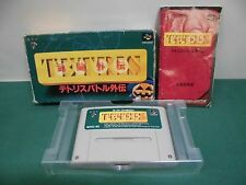 SNES -- TETRIS BATTLE GAIDEN -- Boxed. Super famicom. Japan game. 13790