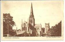 OLD POSTCARD OF CHICHESTER CATHEDRAL - 4112 THE WYNDHAM SERIES - POPLAR 1909 CDS