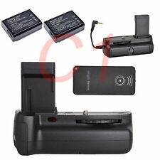 Battery Grip Holder Pack For Canon EOS 1100D T3 Camera + IR Remote + 2x LP-E10