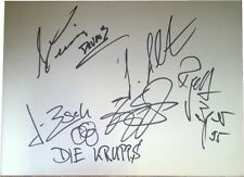 Die Krupps SIGNED AUTOGRAPH RARE MTVs Most Wanted Guest Book Page AFTAL UACC RD