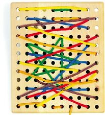 Wooden Threading Board Fine Motor Skills Training Preschool Toy