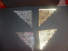 Gold and silver corner die cuts - 4prs