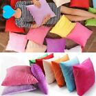 Solid Candy Colors Simple Design Micro Suede Pillow Case Cushion Cover 48x48cm