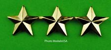 3 Star General Rank Large Gold Hat Pin