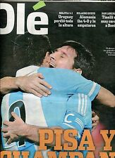LIONEL MESSI Argentina 2 Chile 1 - 2012 Preliminaries World Cup 2014 Newspaper