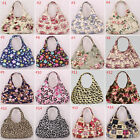 Women Canvas Floral Handbag Shoulder Bag Messenger Hobo Bag Tote Purse Satchel