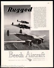 1943 WW II BEECH Aircraft Beechcraft AT-11 Bomber Trainer WWII WW2 AD