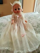 "VINTAGE 1950s 8"" EEGEE BABY SUSAN DOLL SLEEPS DRINKS WETS ORIG. GOWN BONNET MARK"